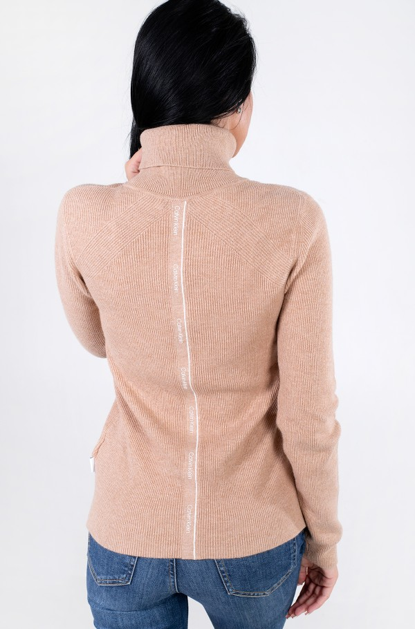 ESSENTIAL RIB ROLL NECK SWEATER-hover