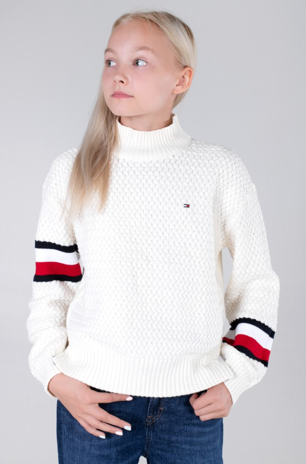 CHUNKY CABLE MOCK NECK-hover