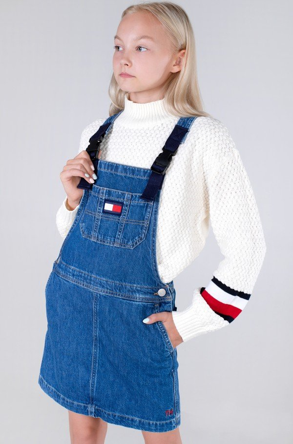 DUNGAREE DRESS-hover