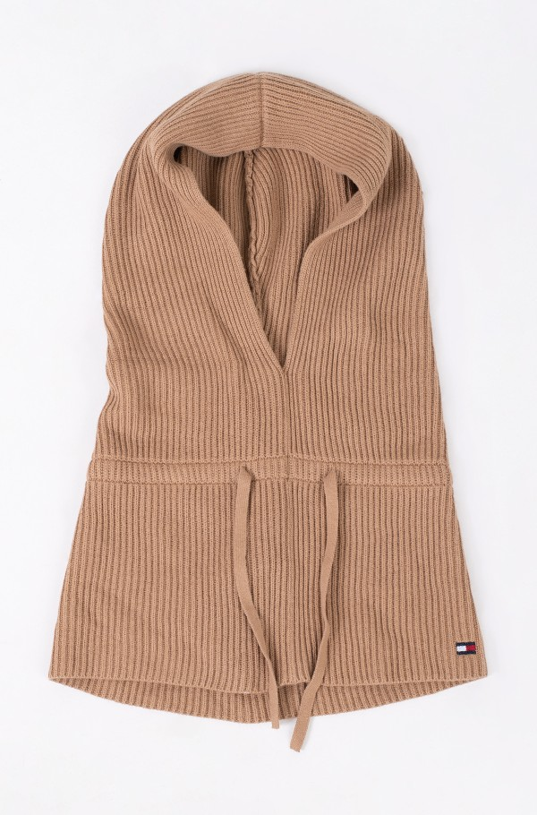 ESSENTIAL KNIT HOODED SNOOD