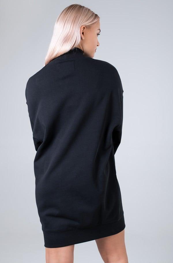 LOGO TRIM MOCK NECK DRESS-hover