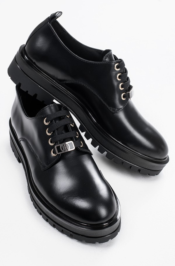 POLISHED LEATHER LACE UP SHOE-hover