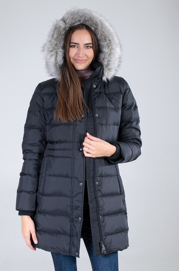 TH ESS TYRA DOWN COAT WITH FUR