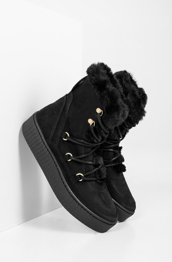 TOMMY WARM LINED LACE UP BOOTIE
