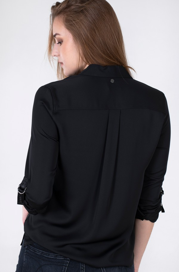 LIGHT CDC OPEN NECK BLOUSE-hover