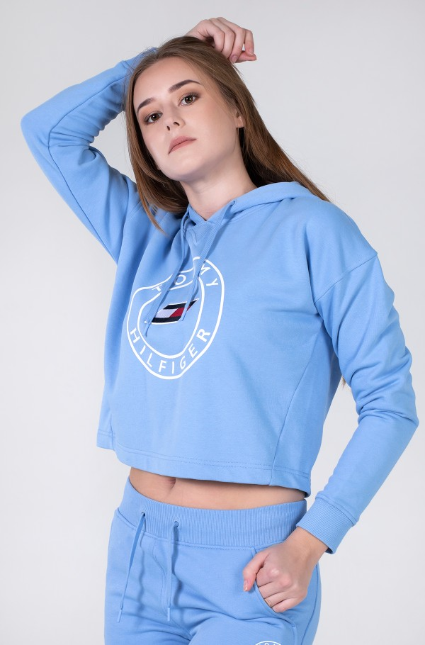 RELAXED ROUND GRAPHIC HOODIE LS
