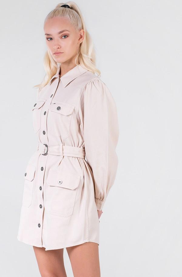 TJW CONTRAST STITCH SHIRT DRESS