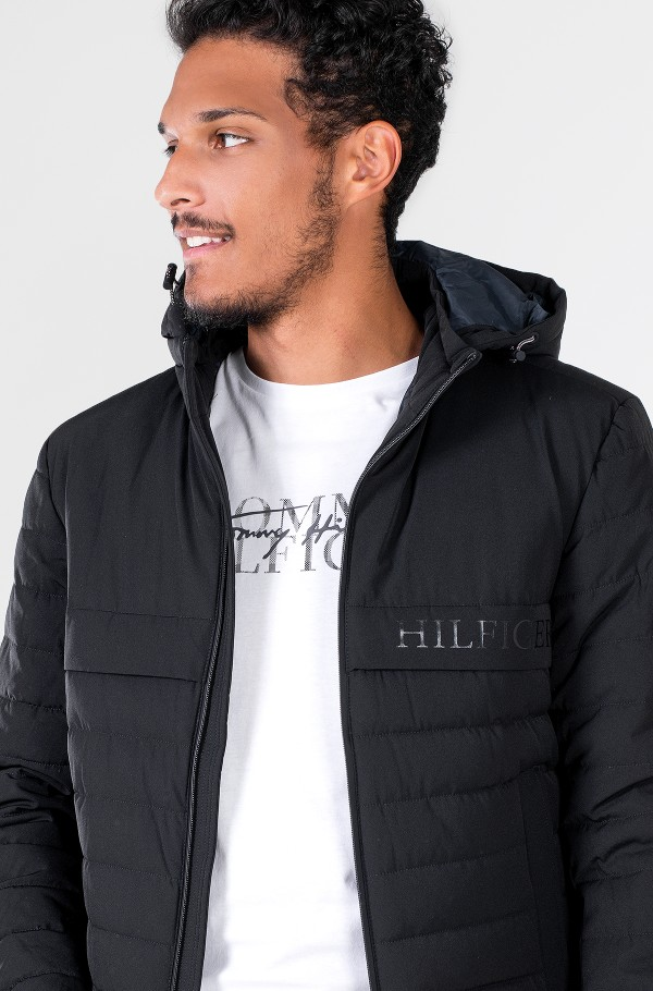 STRETCH HOODED JACKET-hover