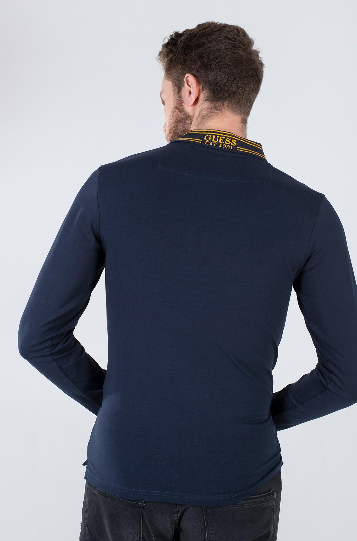 Long sleeved polo M1BP36 J1311-full-2