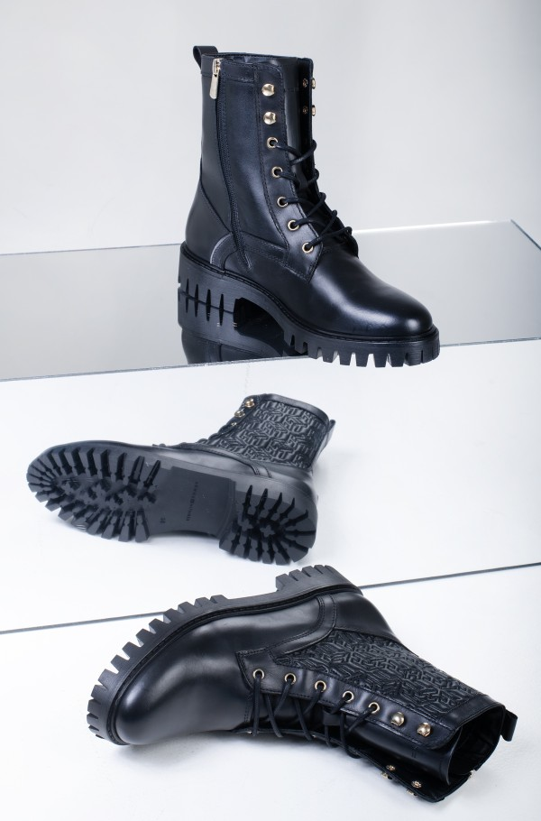 TH MONOGRAM LACE UP BOOT