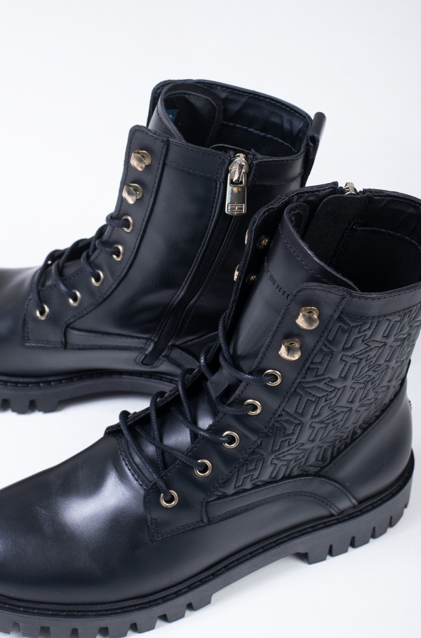 TH MONOGRAM LACE UP BOOT-hover