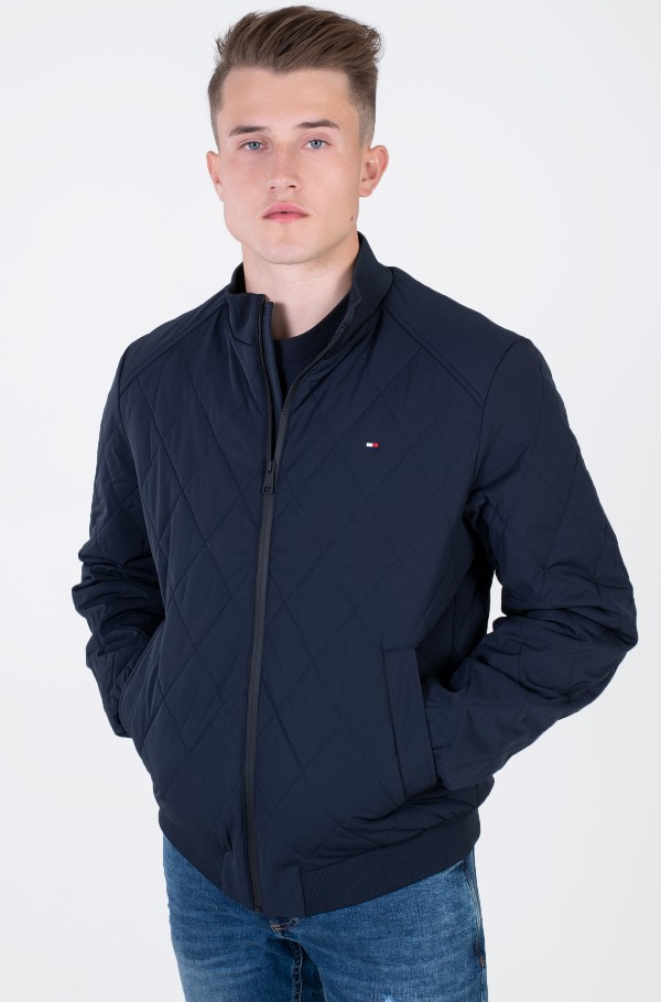 STRETCH DIAMOND QUILTED JACKET-hover