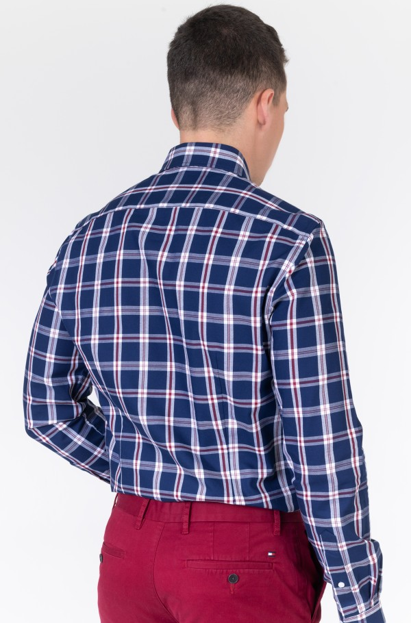 CL SLIM LARGE TWILL CHECK SHIRT-hover